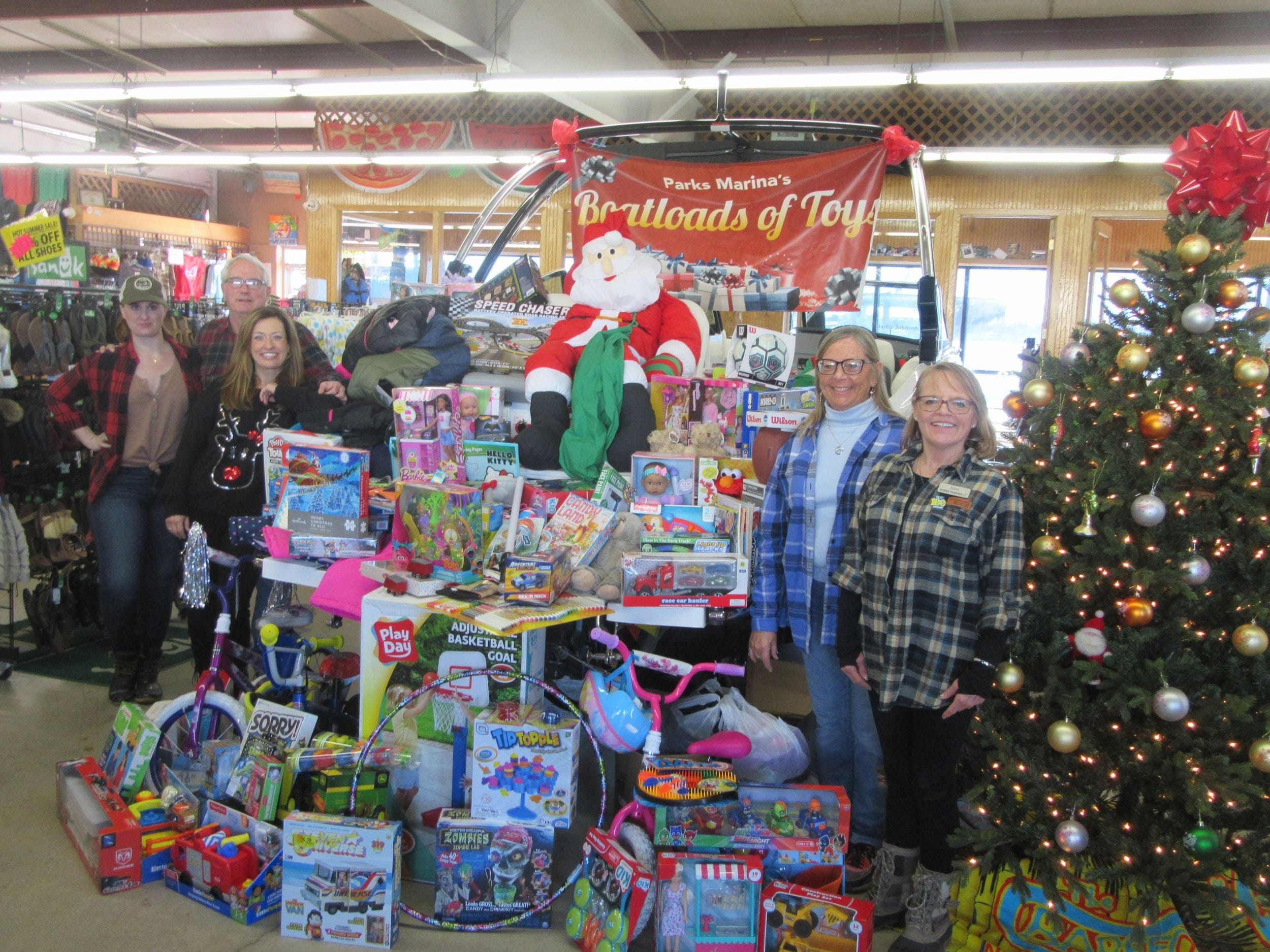 "PARKS MARINA customers bring Christmas Joy to 10th Annual  ""Boat Loads of Toys"""