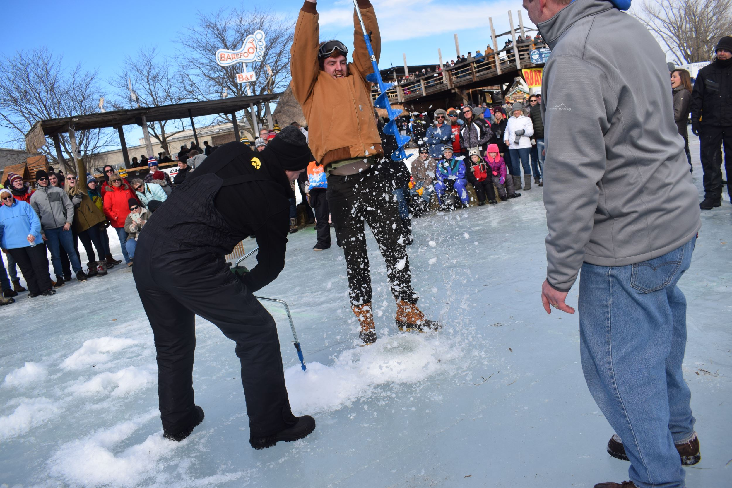 Drill or DIE - Ice Auger Contest - Parks Marina at Lake Okoboji