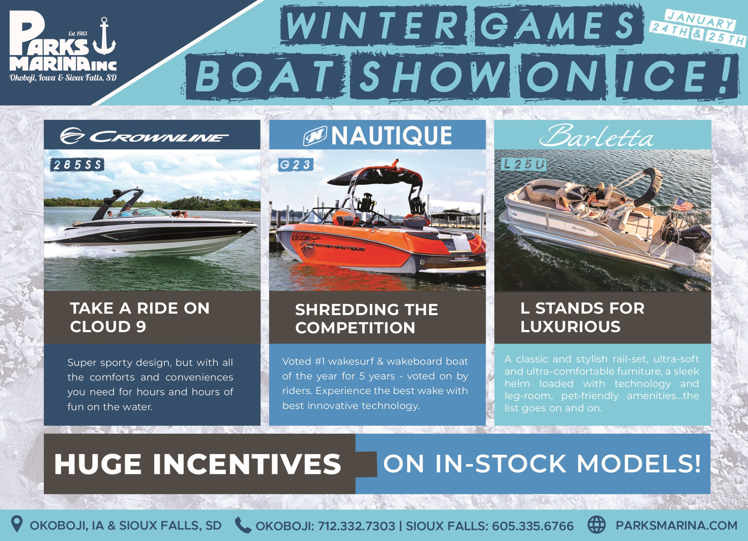 Boats on Ice Boat Show mean big incentives during Winter Games