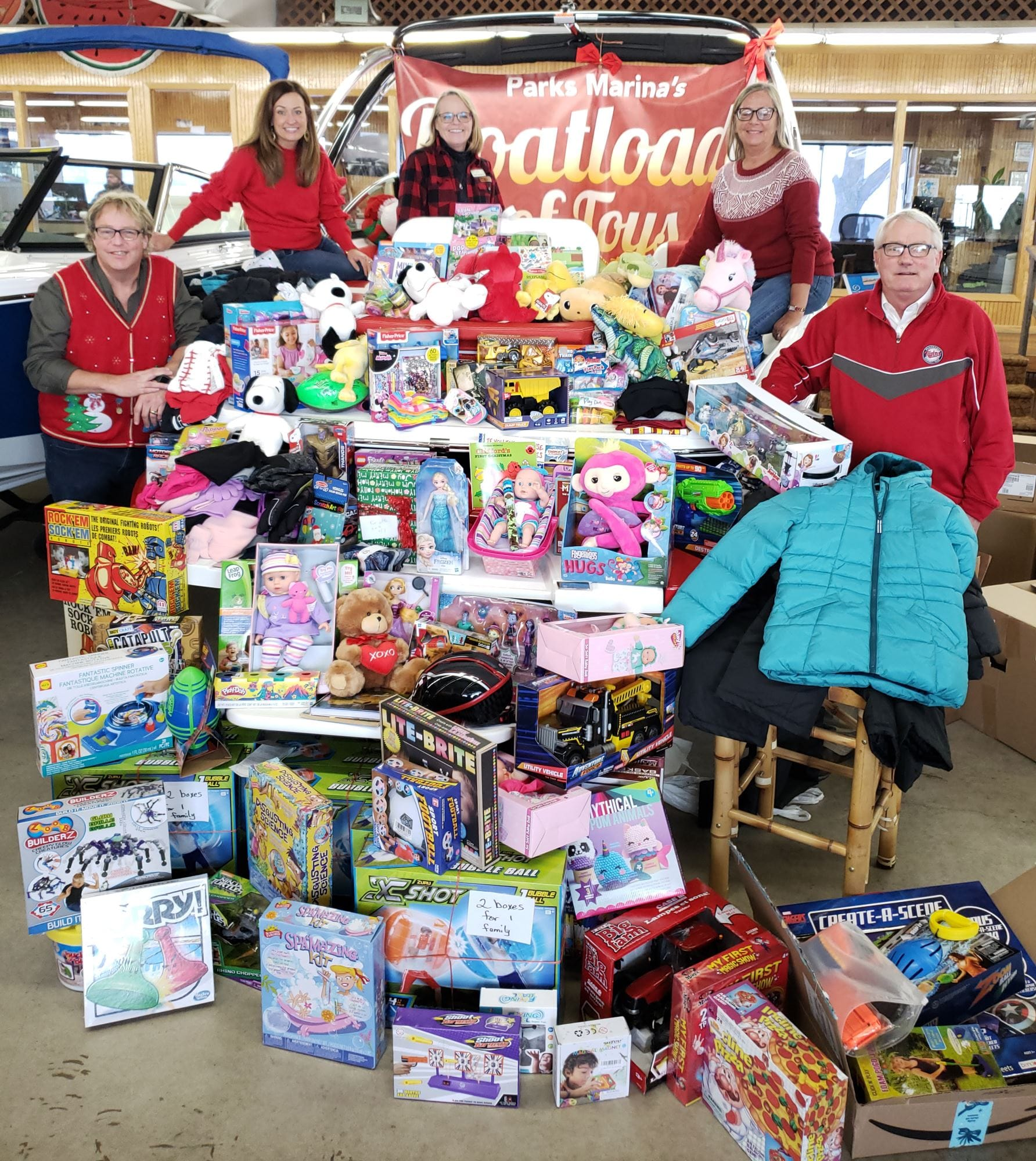 "PARKS MARINA customers bring Christmas Joy to 11th Annual ""Boat Loads of Toys"""