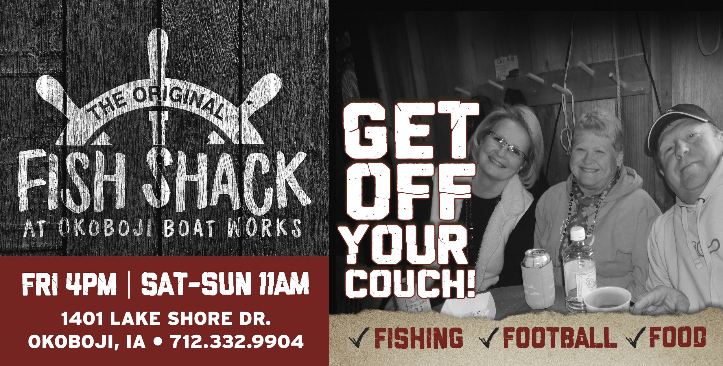 Fish Shack Open for Fishing, Food and Drinks!