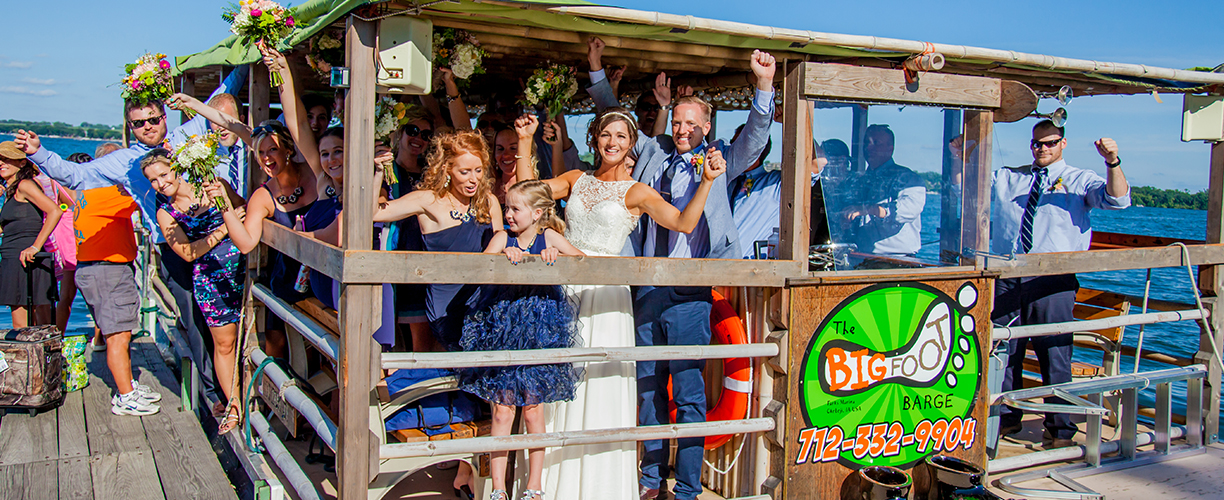 Wedding Big Barefoot Barge