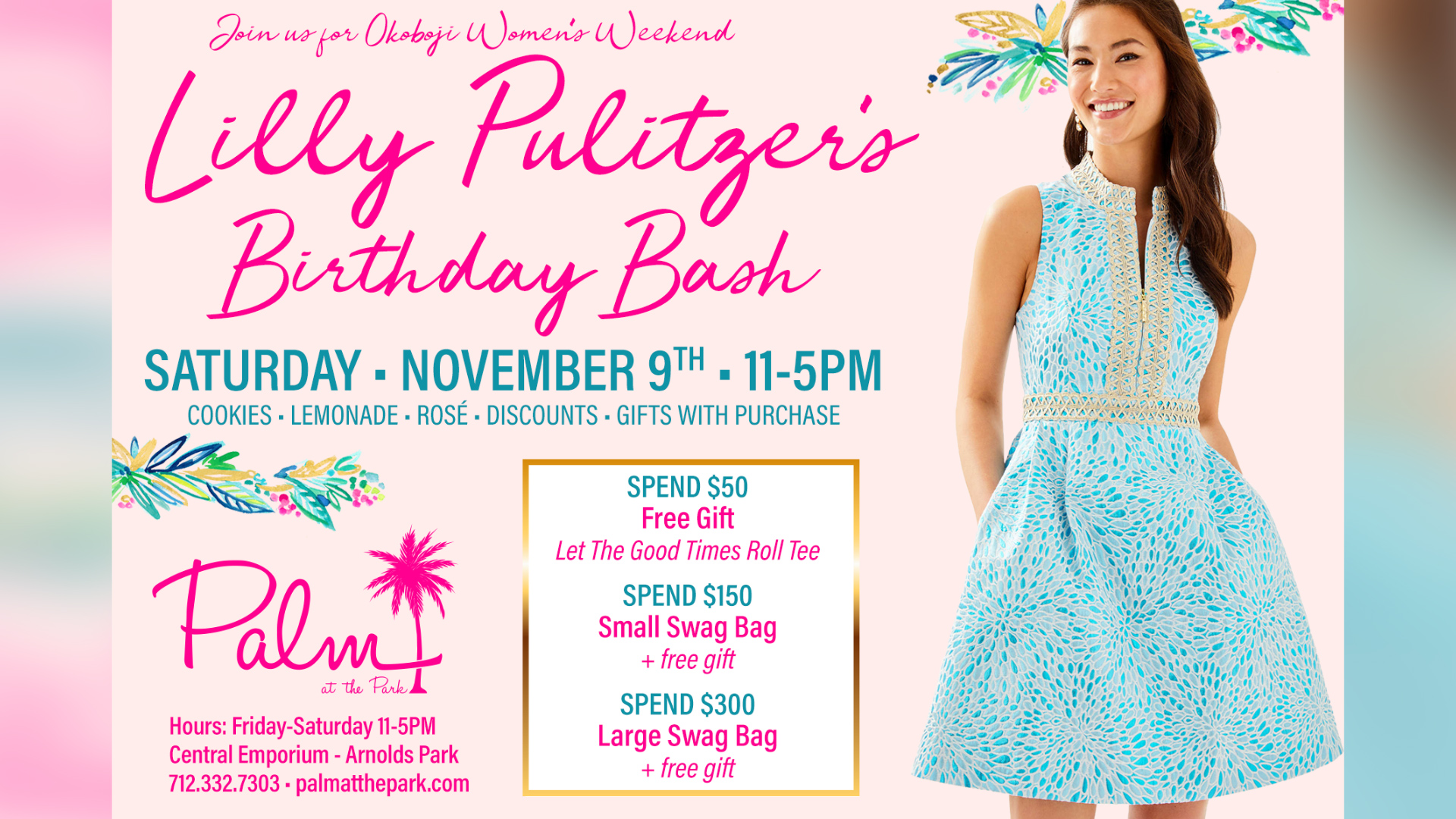 Lilly Pulitzer's Birthday Bash at Palm at the Park