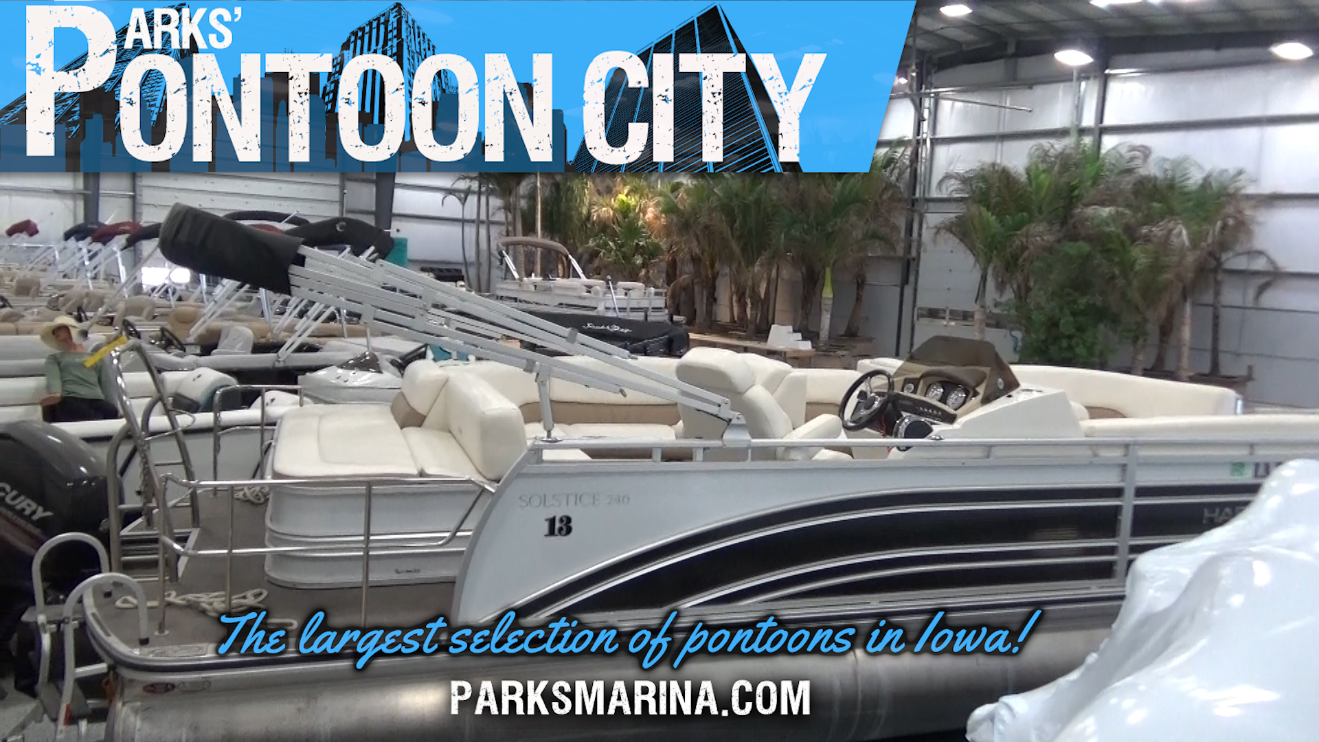 The largest selection of Pontoons is at Pontoon City at Parks Marina