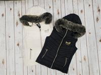 Fur Hooded Vest