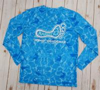 UPF Printed Long Sleeve Tee Light Blue