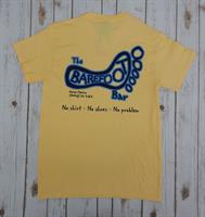 Logo Tee Yellow Haze with Navy Blue