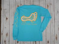Logo Long Sleeve Tee Lagoon