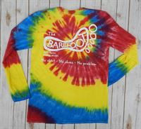 Tie Dye Logo Long Sleeve Tee Red/Yellow/Blue