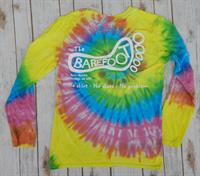 Tie Dye Logo Long Sleeve Tee Rainbow