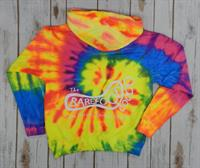 Youth Tie Dye Hood Neon Rainbow