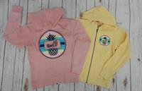 Girl's Pineapple Zip Hood