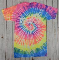 Tie Dye Logo Short Sleeve Tee Rainbow White