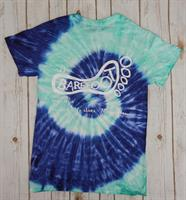 Tie Dye Logo Short Sleeve Navy Mint