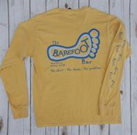 Logo Long Sleeve Tee Mustard and Slate Blue