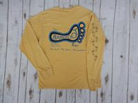 Logo Long Sleeve Tee Mustard with Navy