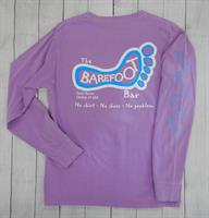 Logo Long Sleeve Tee Electric Purple