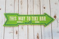 This Way To Tiki Bar Arrow Sign