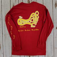 Logo Long Sleeve Tee Red
