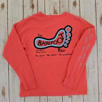 Logo Long Sleeve Tee Salmon