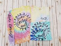 Summer Vibes Tie Dye Long Sleeve